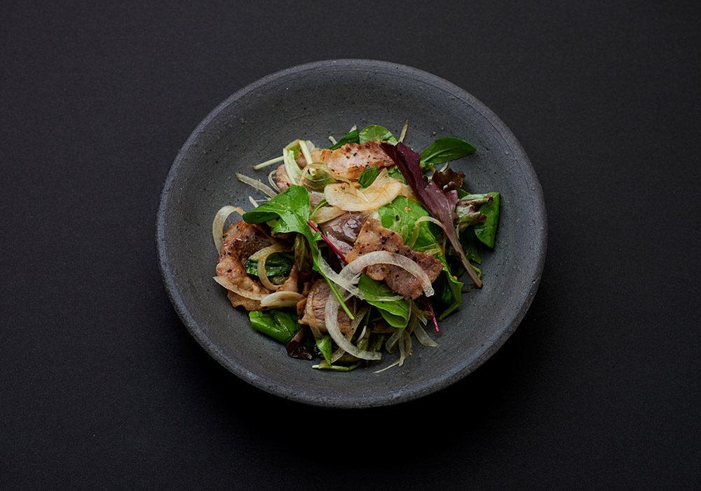 古代ひしおレシピ 豚肉のひしおサラダ